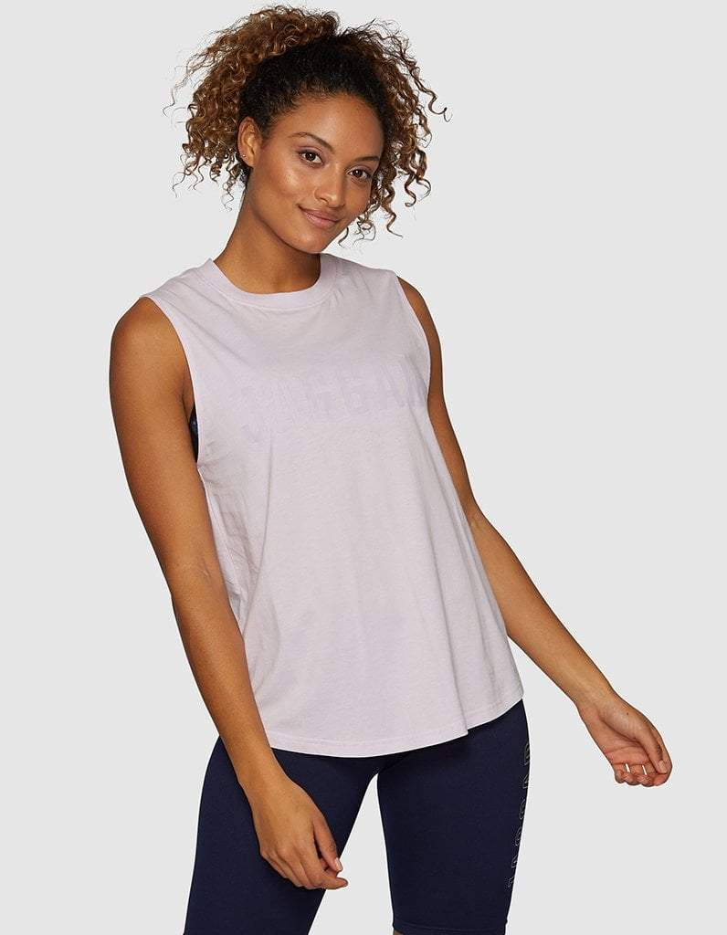 Orchid Side Step Muscle Tank