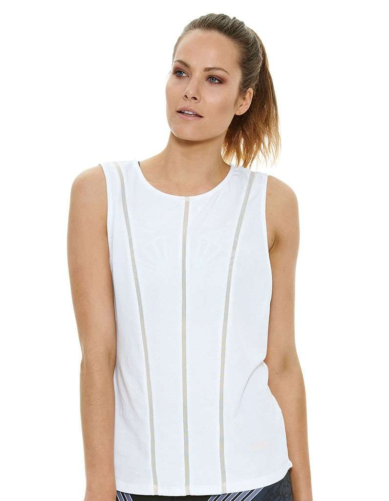 J'Aton X Jaggad Sheer Panelled Muscle Tank