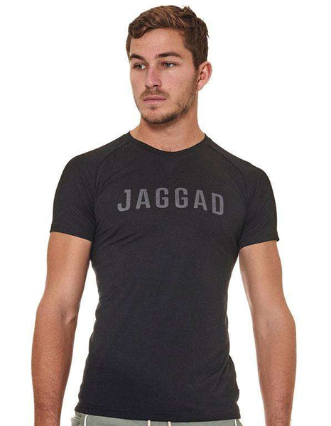 Men's Black Jaggad Print Tee