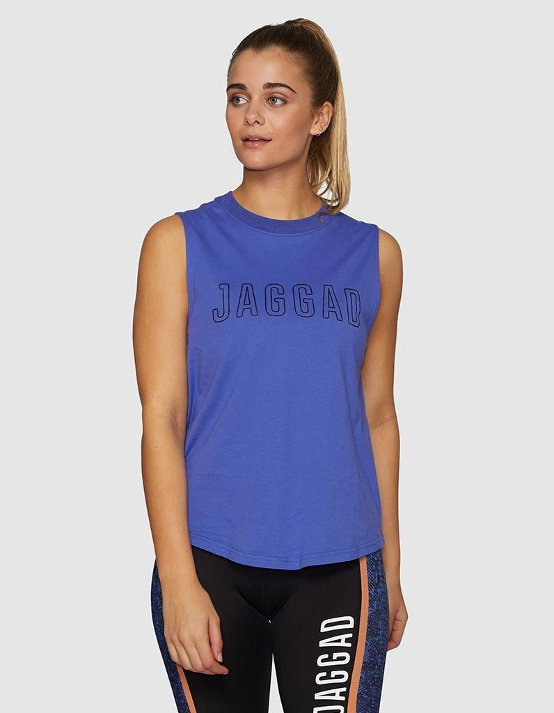 Side Step Muscle Tank Cobalt