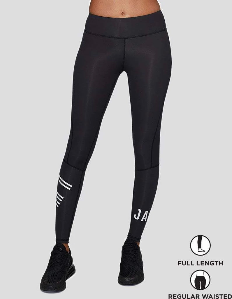 Black/White Compression Leggings