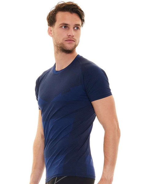 Men's Zircon Performance SS Tee- Deep Blue Marle