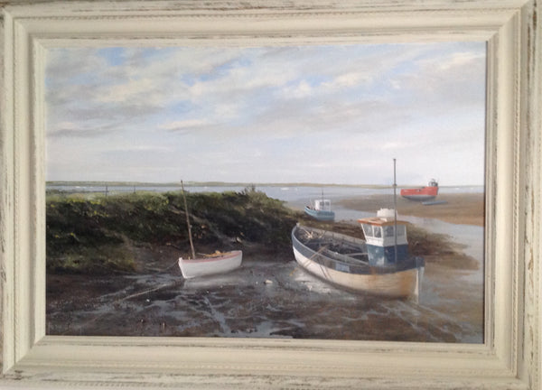 Oil painting Brancaster Norfolk