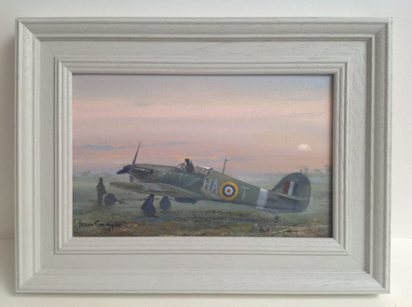 ORIGINAL oil painting Hawker Hurricane