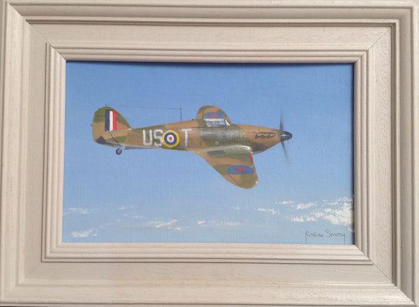 Original miniature oil painting Hurricane