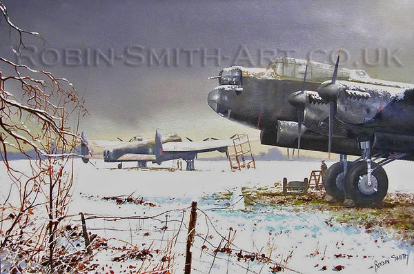 'Snowbound Lancaster' Christmas Card
