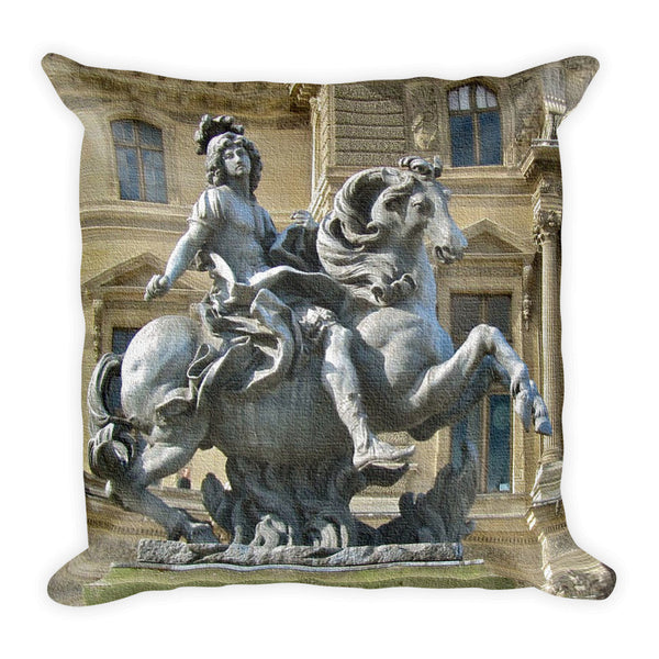 Square Pillow, Statue Louis XIV