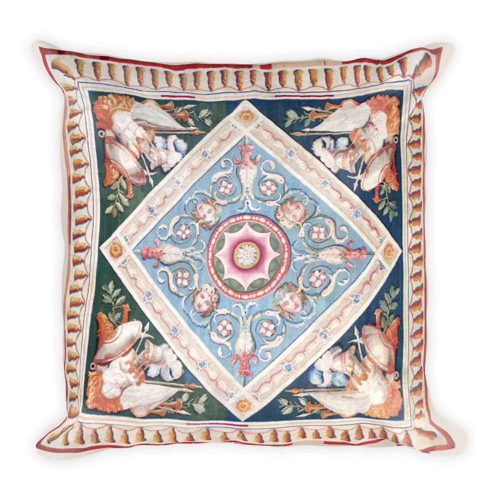 Square Pillow, Aubusson Cherubs