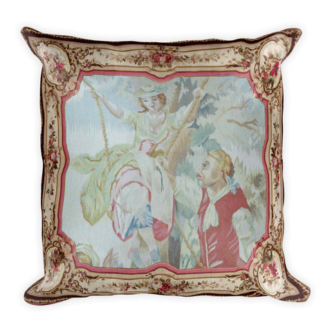 Square Pillow, Aubusson Lovers