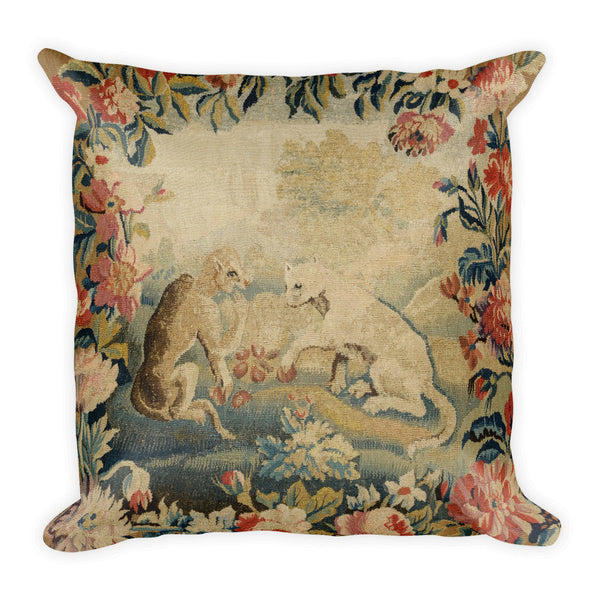 Square Pillow, Needlepoint