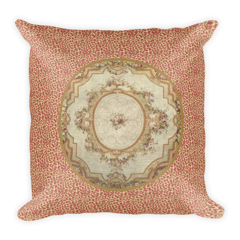 Square Pillow, Aubusson Medallion