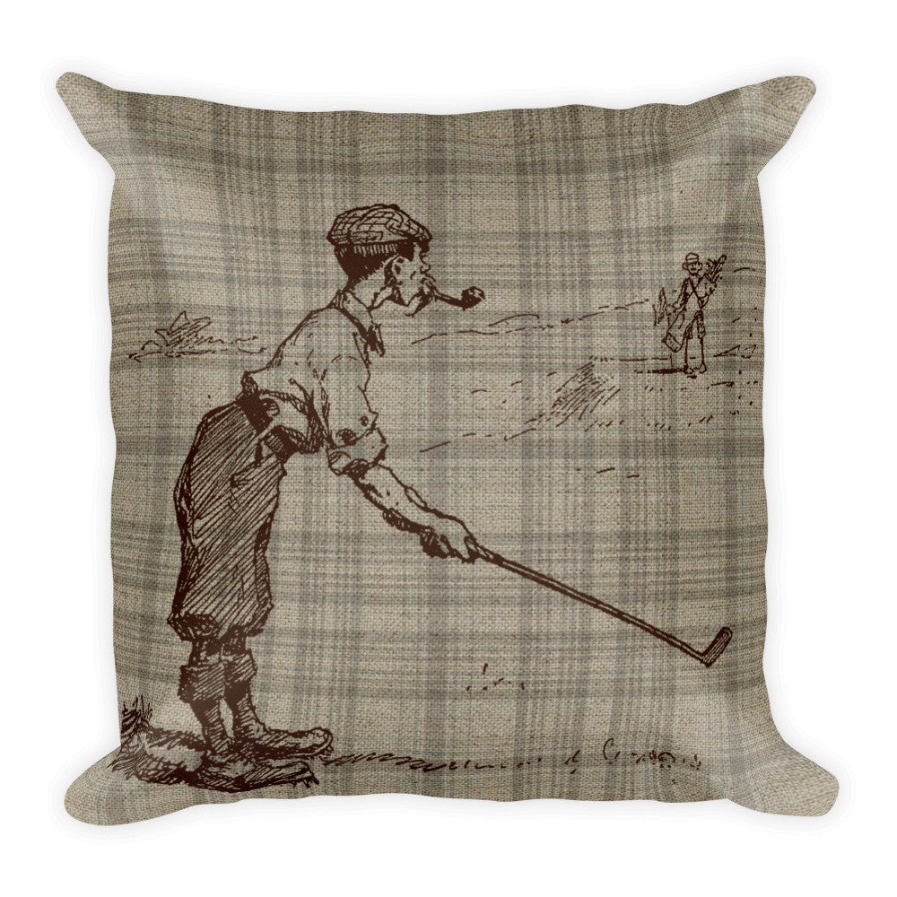 Square Pillow, Golfer