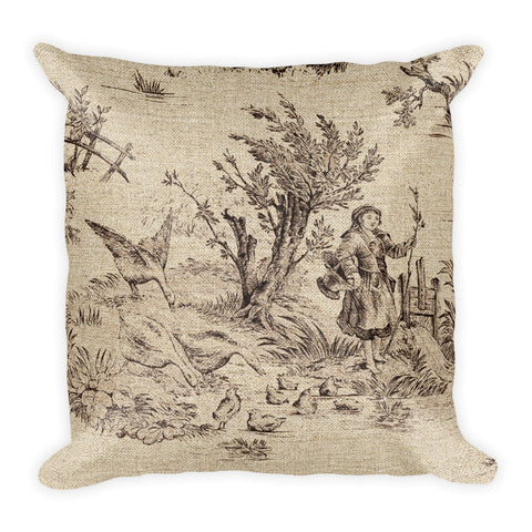 Square Pillow, Les Oies