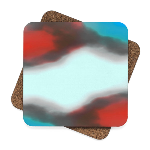 """ Intuition"" Square Hardboard Coaster Set - 4pcs"