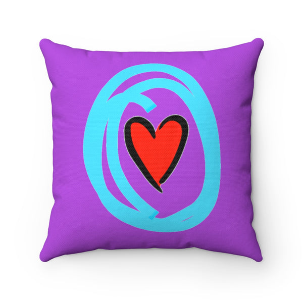 """ Crazy in Love"" Spun Polyester Square Pillow"