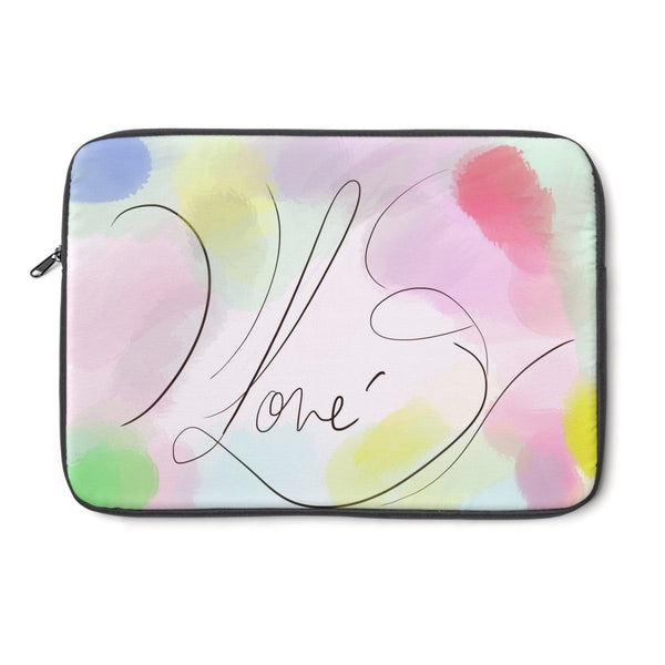 """ Watercolor Me Love"" Laptop Sleeve"