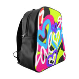 """ Love"" Graphic School Backpack"