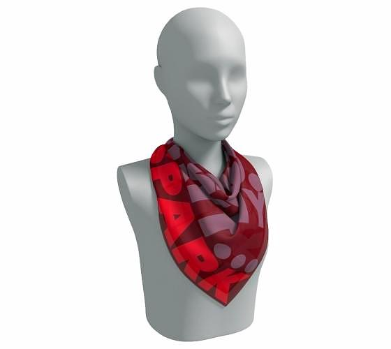"""Wow my Heart, Wow my mind, Wow my Spirit"" Square Scarf"