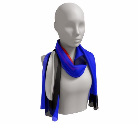 FAB BLUE Long Scarf