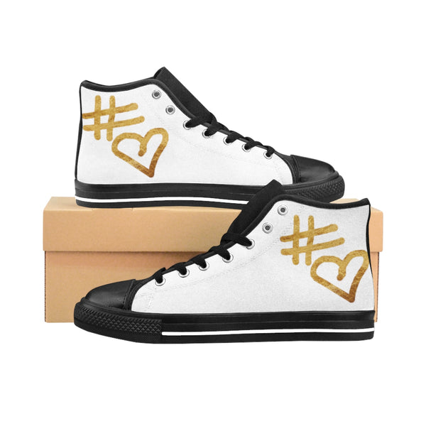 """ Hashtag Love""  Women's High-top Sneakers"