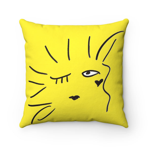 """ I'm a Masterpiece"" Spun Polyester Square Pillow"
