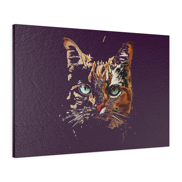 """ Inner Kitty"" Horizontal Leather Gallery Wraps"