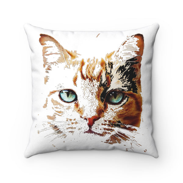 """ Kitty Kat"" Spun Polyester Square Pillow"