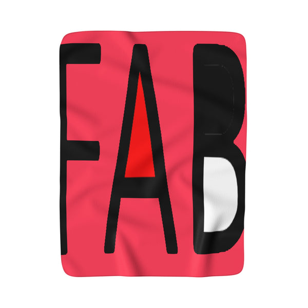 """ Fab"" Sherpa Fleece Blanket"