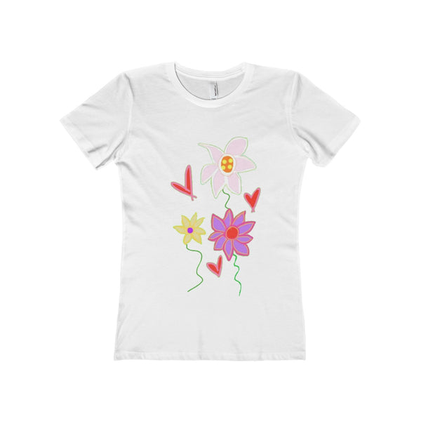 """ Vibrance""  Women's The Boyfriend Tee"