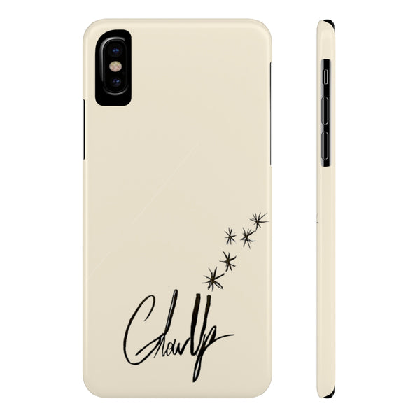 """Glow up""  Slim Phone Cases"