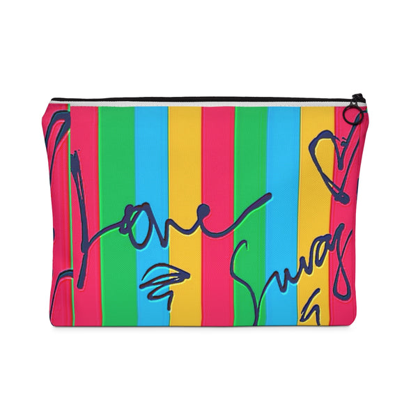 """ Love Swag"" Carry All Pouch - Flat"