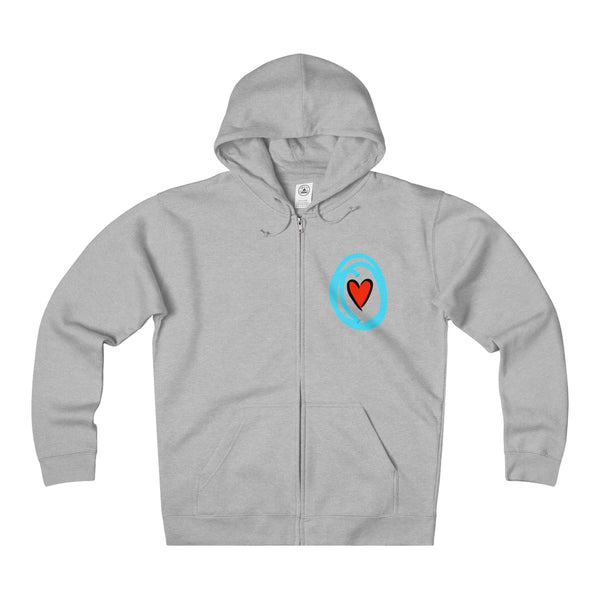 """Crazy in Love"" Mini Adult Unisex Heavyweight Fleece Zip Hoodie"