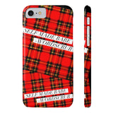 """Self Made Babe"" Plaid Phone Case"