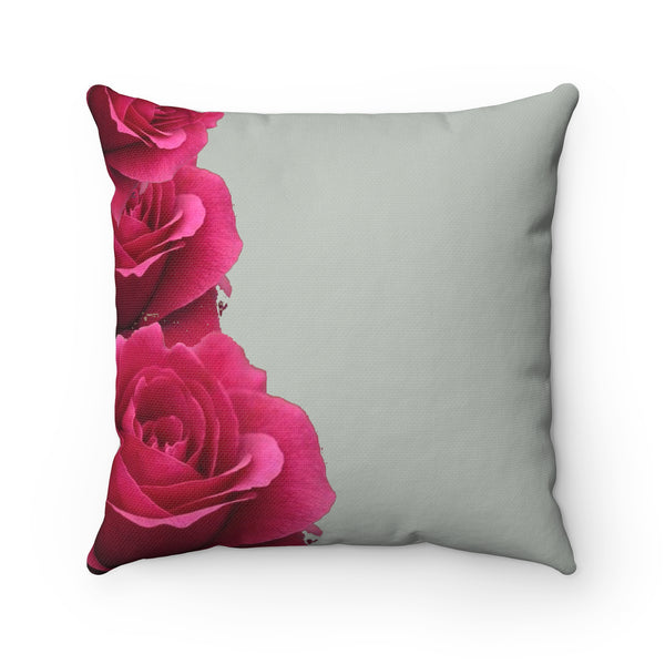 """ Smell the Roses"" Spun Polyester Square Pillow"