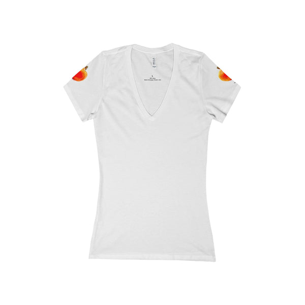 """ Pumpkins"" Women's Deep V-Neck Jersey Tee"
