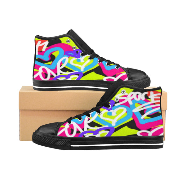 """  Love"" Graffiti Women's High-top Sneakers"