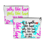 """ It's Love"" Carry All Pouch - Flat"