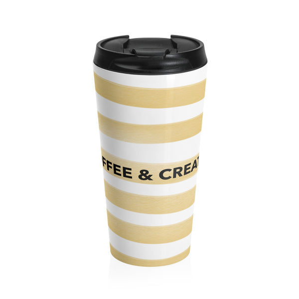 """ Coffee & Create"" Stainless Steel Travel Mug"