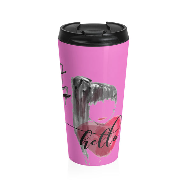 """ Hello"" Stainless Steel Travel Mug"