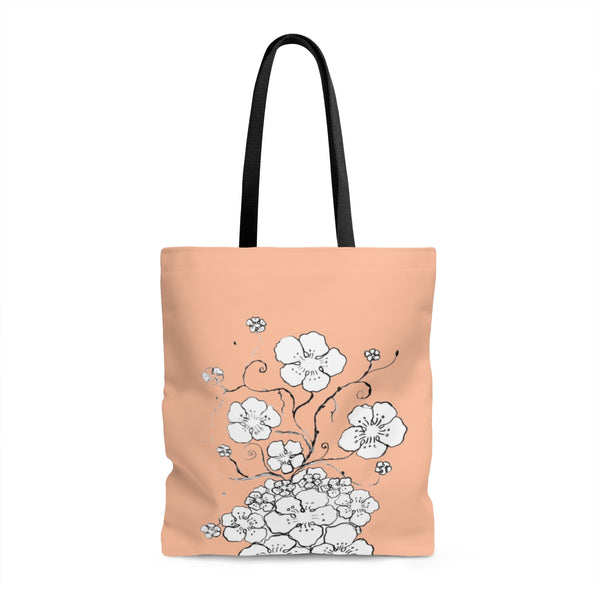 """Cherry Blossoms Pop""  Tote Bag"