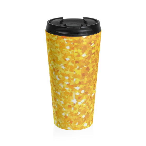 """ Gold Sparkle"" Stainless Steel Travel Mug"