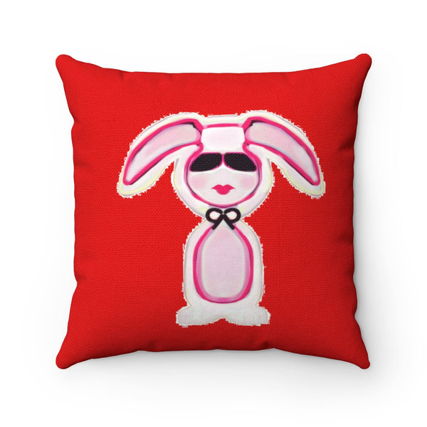 """Bunny"" Spun Polyester Square Pillow"