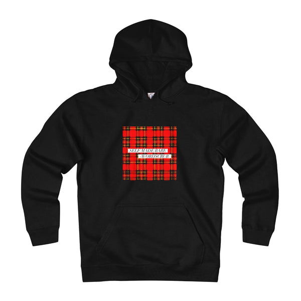 """ Self Made Babe"" Plaid Hoodie"