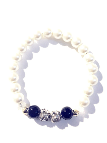 """Something Blue"" Bridal Bracelet"