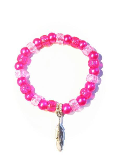 "Pink "" Feather"" Bracelet"