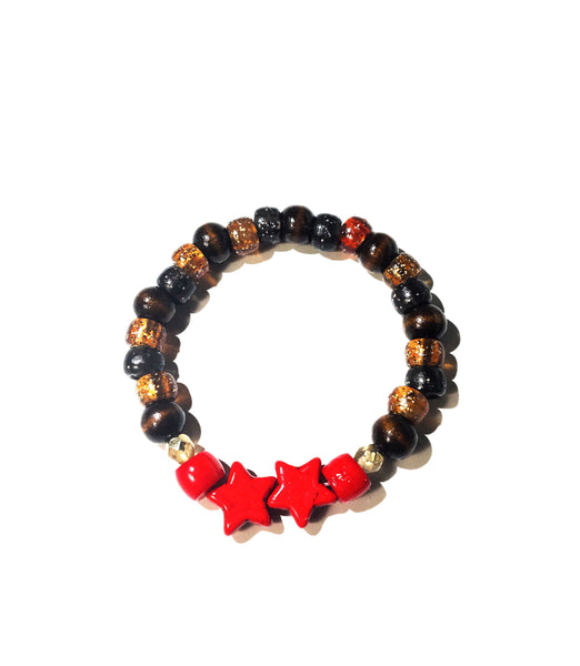 """Candy Apple Stars"" Tiger Eye Bracelet"