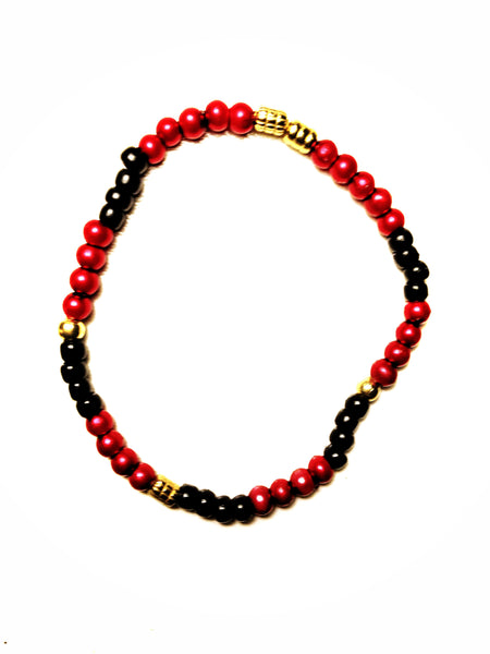 """Courage"" Metallic Red Mini Bracelet"