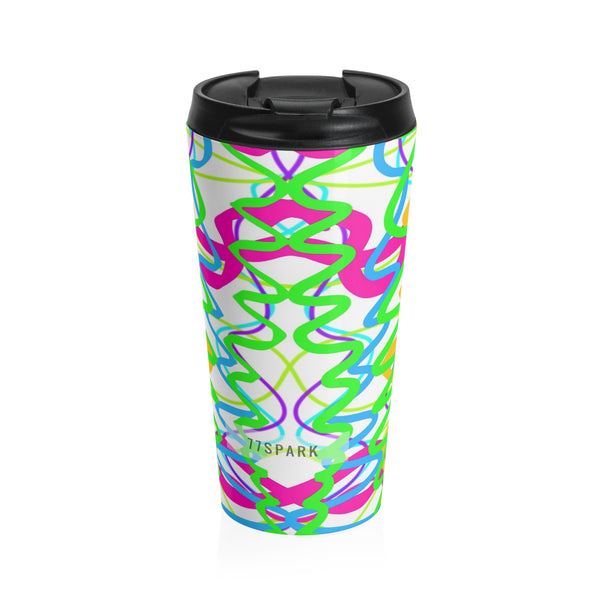""" Confetti"" Stainless Steel Travel Mug"