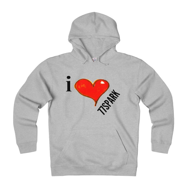 """ I love 77Spark"" Adult Unisex Heavyweight Fleece Hoodie"