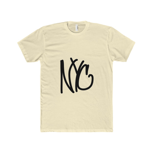 """ NYC"" Men's Premium Fitted Short-Sleeve Crew Neck T-Shirt"